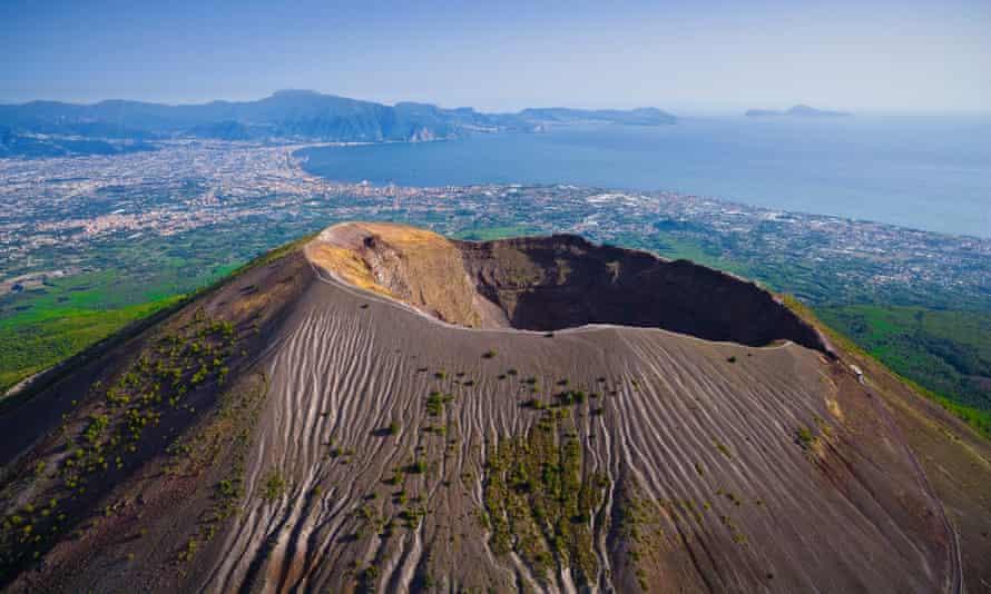 The Vesuvius crater