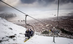 Glencoe Mountain Resort, en Écosse. Image prise en janvier 2018.