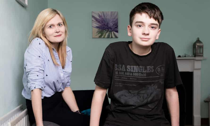 Alicia McColl and her 14-year-old son Kian.