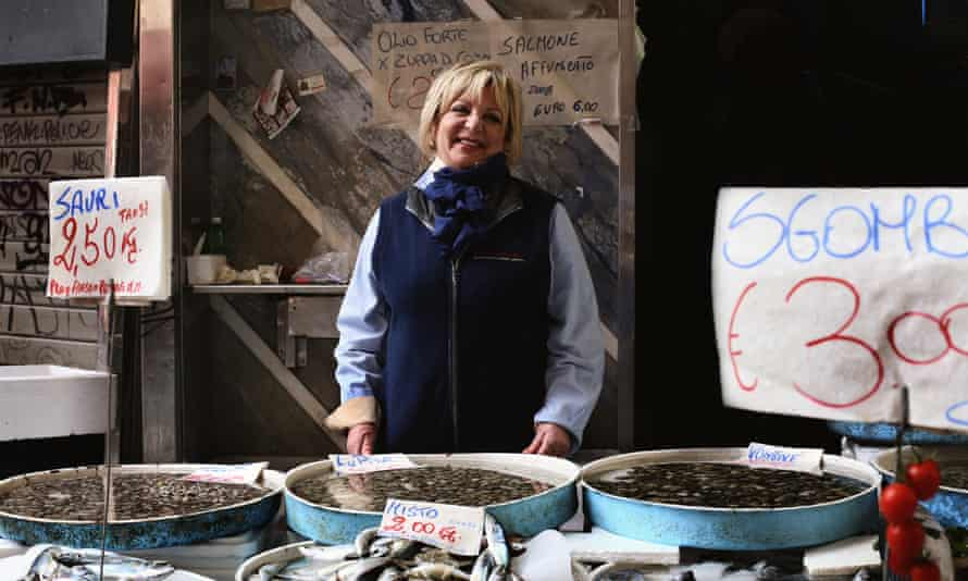 fish stall at Pignasecca market,  Naples