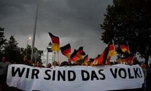 "A march in Chemnitz organised by the rightwing populist ""pro- Chemnitz"" movement on 7 September following protests against neo-Nazi violence in the Saxon city."