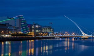 Central Dublin. Ireland's 12.5% corporation tax account for 20% of all government revenue.