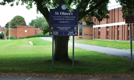 St Olave's grammar school in Orpington, Kent