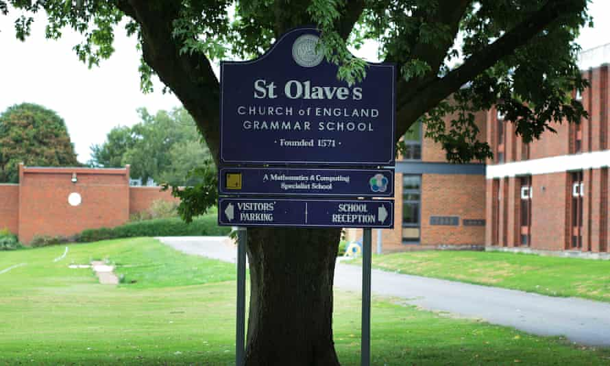 St Olave's grammar school, in Orpington, Kent.
