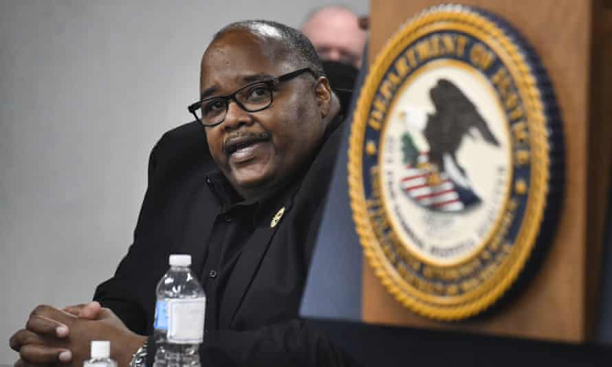 Rory Gamble, the UAW president, in Detroit, Michigan.