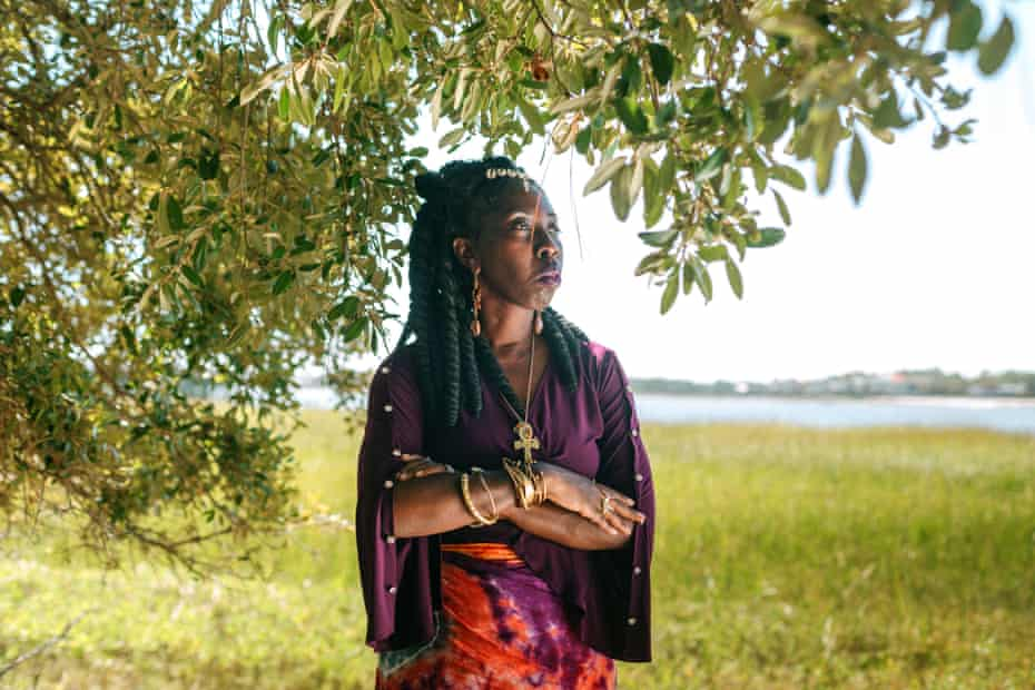Queen Quet at the Hunting Island Nature Center in St Helena Island, South Carolina. 'Our very existence is threatened by the rapid erosion of our Sea Islands.'