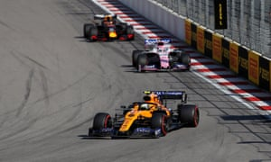 Norris takes a corner in last year's Russian Grand Prix