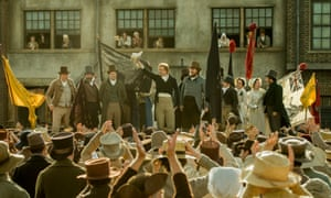 Rory Kinnear, centre, in Peterloo.
