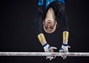 Montreal, Canada Valeriia Osipova of Ukraine competes in the Women's Uneven Bars at the FIG Artistic Gymnastics World Championships