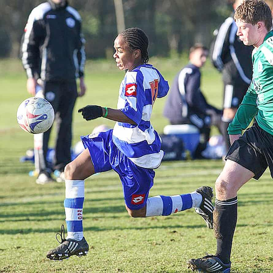 Raheem Sterling as an academy player at QPR.