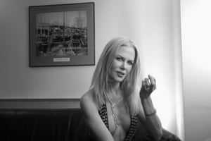 Nicole Kidman has a quiet moment backstage.