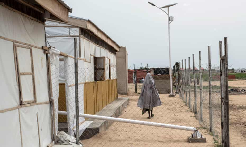 A woman in a refugee camp in Maiduguri, north-east Nigeria