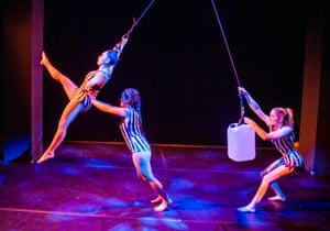 'Do the splits and smile': Francesca Hyde, Michelle Ross and Kate McWilliam in No Show.