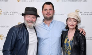 Writer of Mum Stefan Golaszewski, centre, with Peter Mullan (Michael) and Lesley Manville (Cathy).