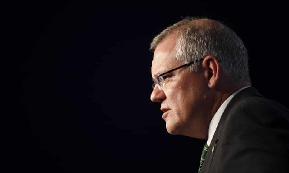 Australian prime minister Scott Morrison speaks to the media during a press conference at the G20 summit in Buenos Aires, Argentina, 1 December 2018.
