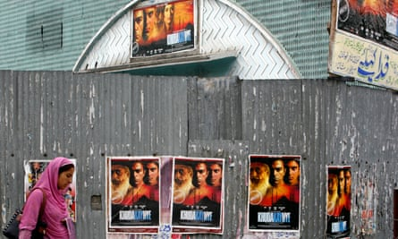 Cinemas in Srinagar were forced to close by militants who threatened moviegoers with death.
