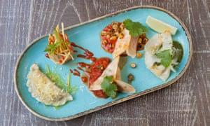 'Steamed silky salmon dumplings; dumplings of wild mushrooms doused in truffle oil': new favourites.