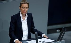 Alice Weidel speaking in the Bundestag.