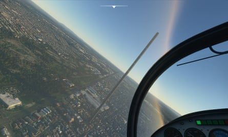 Microsoft Flight Simulator creates a terrifying 212 floor tower in Melbourne, August 2020.