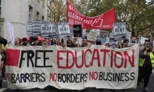 Demonstration against cuts in London last November