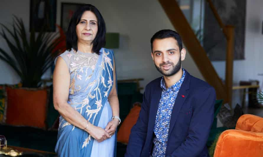 Karan Sodhi and his grandmother Surjit who closed their high street bridal wear shop in Derby and now work from a studio at home.