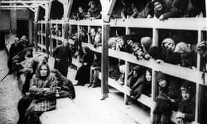 The women's barrack in the Auschwitz-Birkenau concentration camp in Oświęcim, Poland
