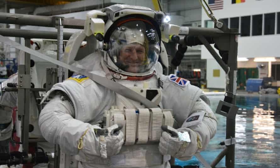 Tim Peake during training for the Principia mission.
