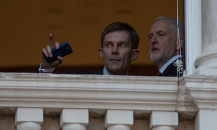 Jeremy Corbyn with adviser Seamus Milne, May 2017