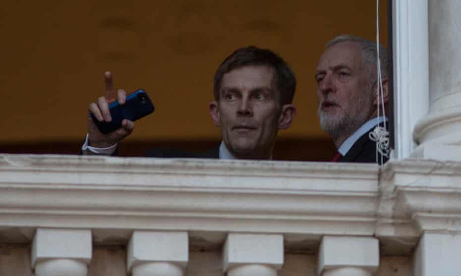 Jeremy Corbyn with adviser Seamus Milne, May 2017