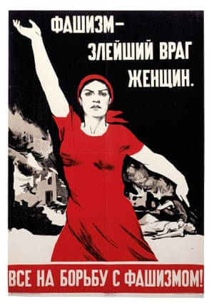Fascism – The Most Evil Enemy of Women, a 1941 Soviet poster from David King's collection.
