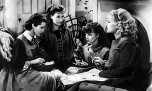 Frances Dee, Jean Parker, Katharine Hepburn and Joan Bennett in George Cukor's 1933 Little Women.