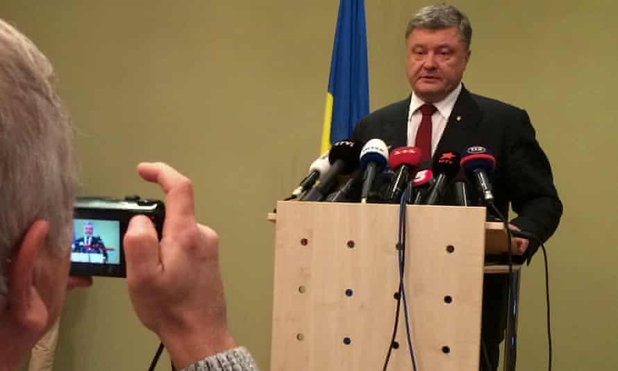 Ukraine president Petro Poroshenko