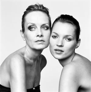 Twiggy and Kate Moss in London, 1999