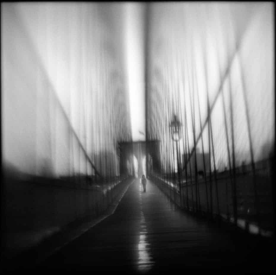 Susan Burnstin's photograph Impasse, created with a homemade camera to create the 'distorted quality of my dream world'