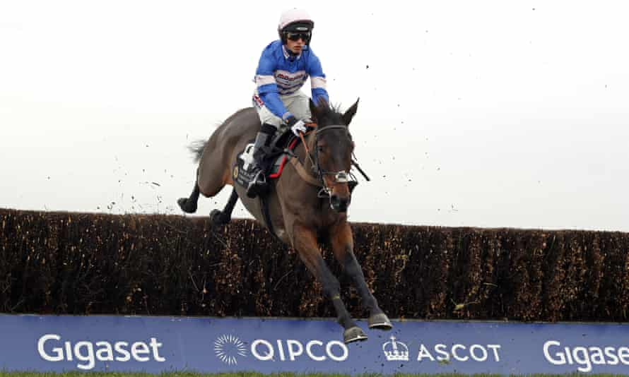 Harry Cobden steers Dolos to victory in the opening race at Ascot on Friday.