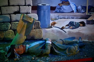 A waxwork display in a museum in the Kurdish town depicts the scene of a 1988 chemical weapons attack there.
