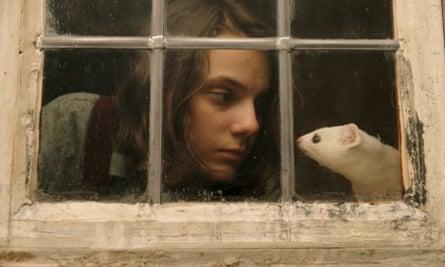 Dafne Keen as Lyra Belacqua in the BBC series of His Dark Materials, 2019.