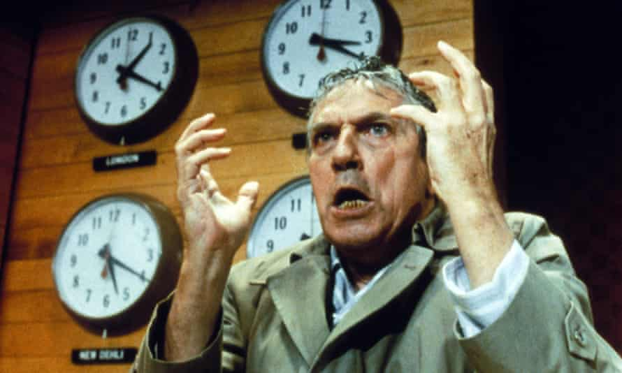 Actor Peter Finch in the movie Network