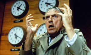 Mad as hell … Peter Finch in Network.