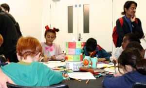Monster Mayhem with David and Izzy Simonds at the Guardian Education Centre Cartoon and art family day 17 November 2018