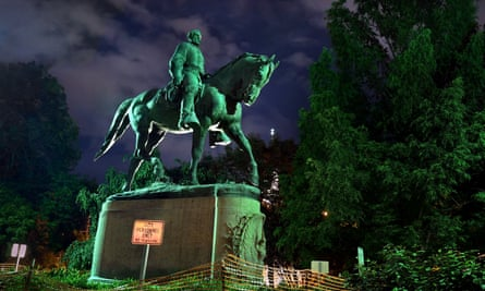 The Robert E Lee statue in Charlottesville's Emancipation Park.