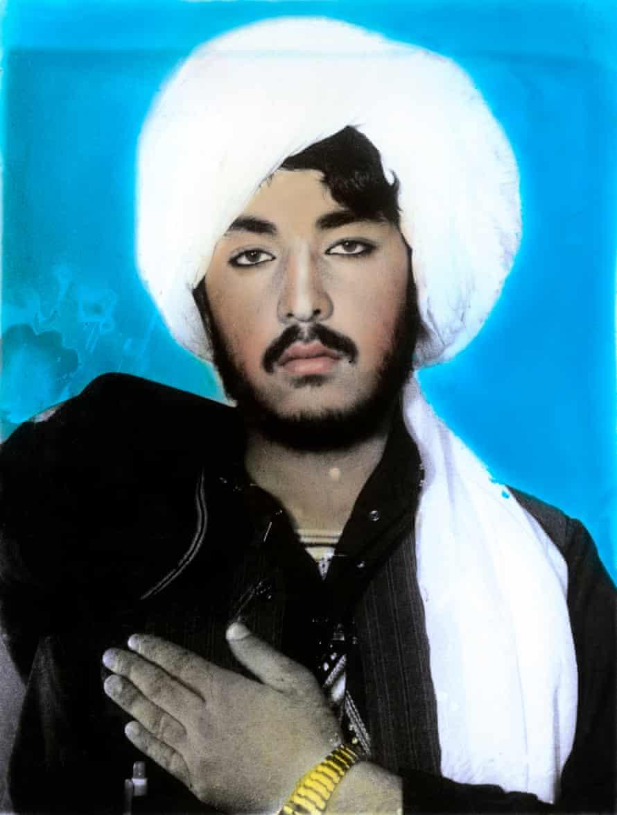 Afghanistan, Kandahar. Taliban portraits. 2002 by Thomas Dworzak.