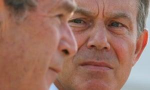 George W Bush and Tony Blair in 2007.