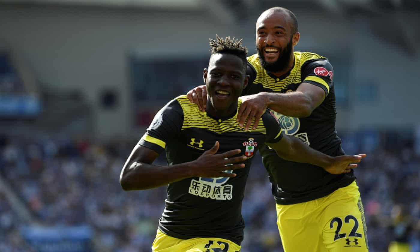 Moussa Djenepo hits cracker as Southampton beat 10-man Brighton