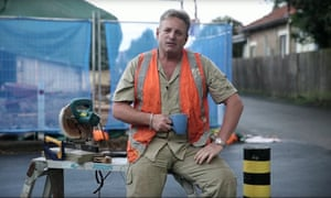 A tradie (tradesman) pictured in a video advert by the Australian Liberal Party