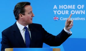 David Cameron outlines the Conservative party housing manifesto in Colchester, Essex.