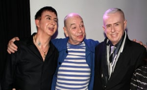 Marc Almond, Lindsay Kemp and Holly Johnson attend Lindsay Kemp: My Life & Work With David Bowie – In Conversation With Marc Almond at the Ace Hotel in Shoreditch London, 17 May 2016