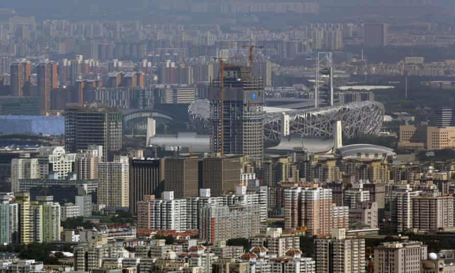 The Beijing skyline. China's incredible economic success was aided by a protracted period of economic growth.