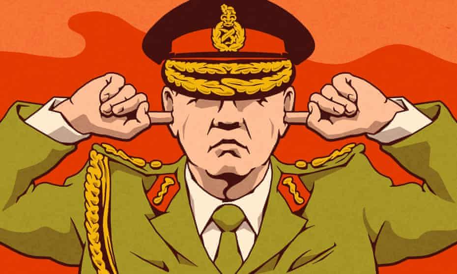 Army will not Listen illustration