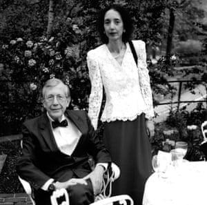 Joyce Carol Oates and her first husband Raymond Smith